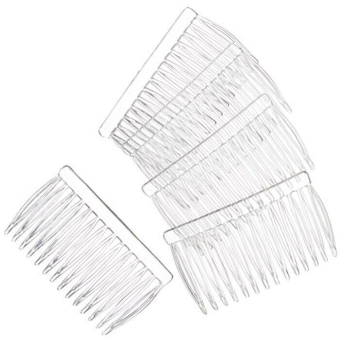 15 Clear Plastic 42x70mm Hair Combs / Ready to Wear or Decorate
