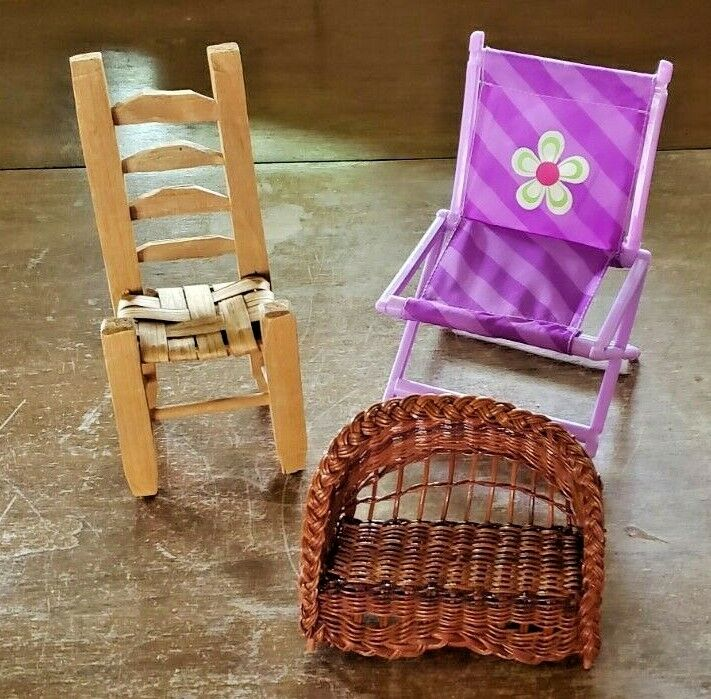 LOT OF 18 VARIOUS PLASTIC FURNITURE FOR 11 1/2 TALL DOLLS  - $30.00