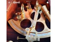 Fully functional brass sextant