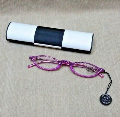GL314 Jimmy Crystal Reading Glasses Light/Amethyst +2.25 Eyeglasses & Case