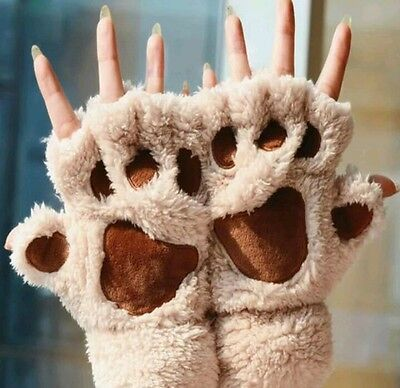 Cat Claw Gloves Costume (Wolf Cat Fox Bear Claw Furry Gloves Cosplay Costume Cute Fantasy Gift)