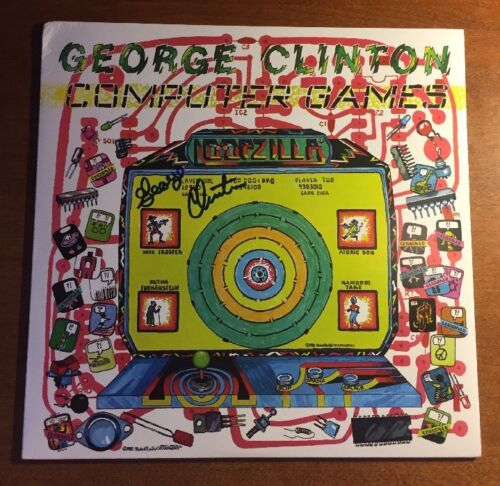 Computer Games - George Clinton Signed Funkadelic Album Cover COMPUTER GAMES JSA/COA P34350