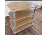 Beech TV unit and table