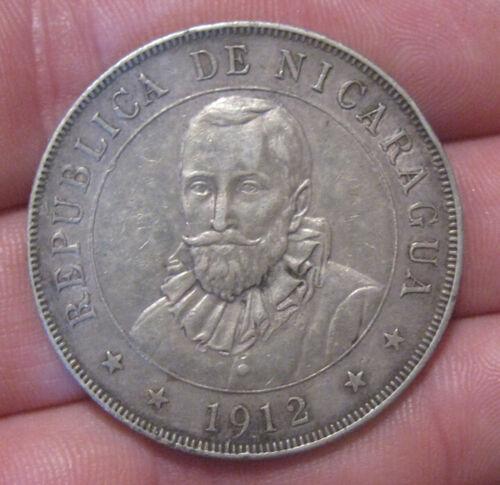 Nicaragua - 1912 Large Silver Cordoba - Nice