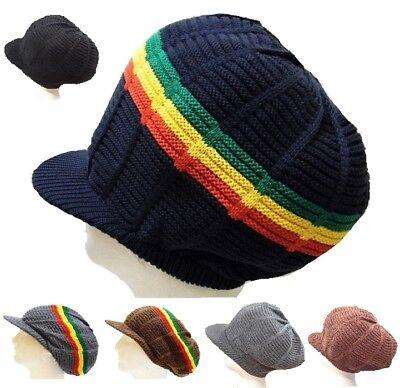 Multi Color Hat Dreadlock Rasta Visor Cap Rastafari Jamaica Tam Marley Roots Tam (Dreadlocks Hat)