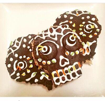 8 Chocolate Skull Rice Krispie Treats - Glutenfree / Handcrafted!