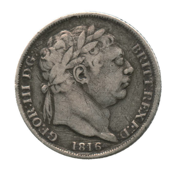 1816 Great Britain Silver 6 Pence