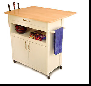 Rolling Wood Home Kitchen Island Cabinet Cart Top Counter