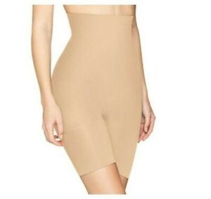 Spanx Womens Higher Power Shaper Shorts Shapewear Gusset Tan / Nude Sz D
