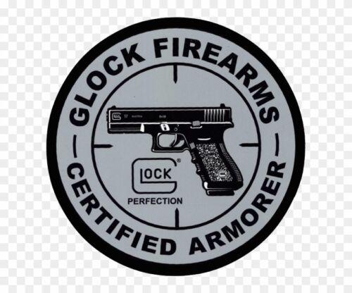 GLOCK PERFECTION CERTIFIED ARMORER STICKER BOGO!! GLOCK 17/19/20/21/22/23/34/35/