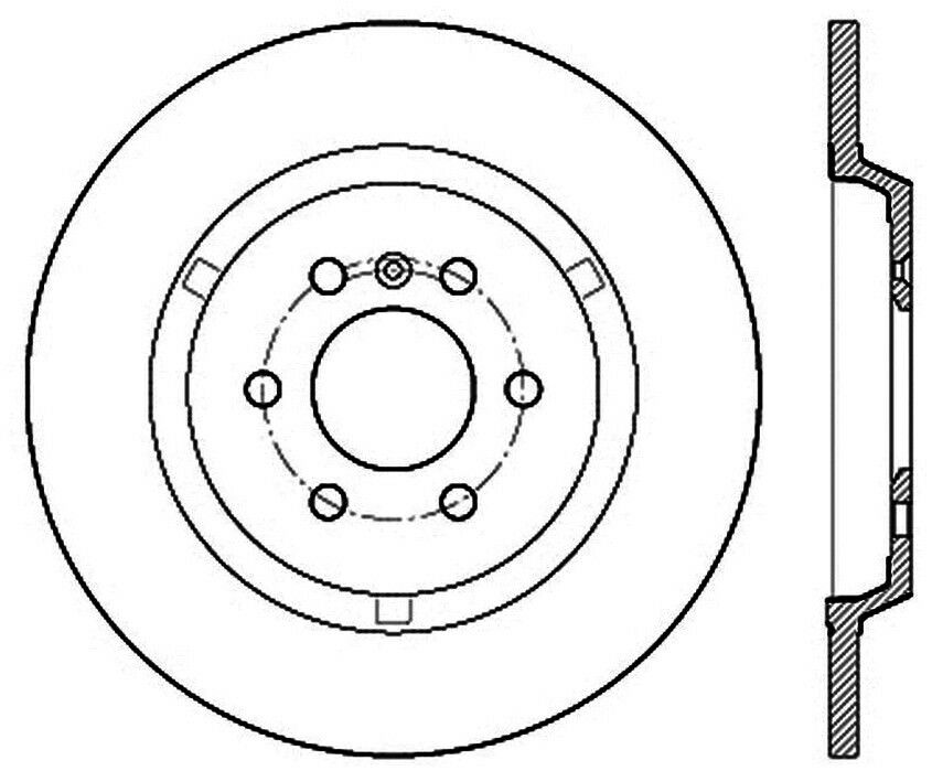 Disc Brake Rotor C Tek Standard Rear Centric 121 69003