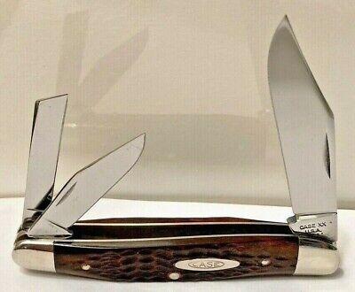 """Vintage 1975 CASE XX """"Whittler"""" Red Bone Pocket Knife No.6380 As Found+Unused!"""
