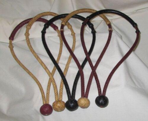 "Rawhide Bosalita (1/4"" diameter, 8 plt.) - choose from 7 colors"