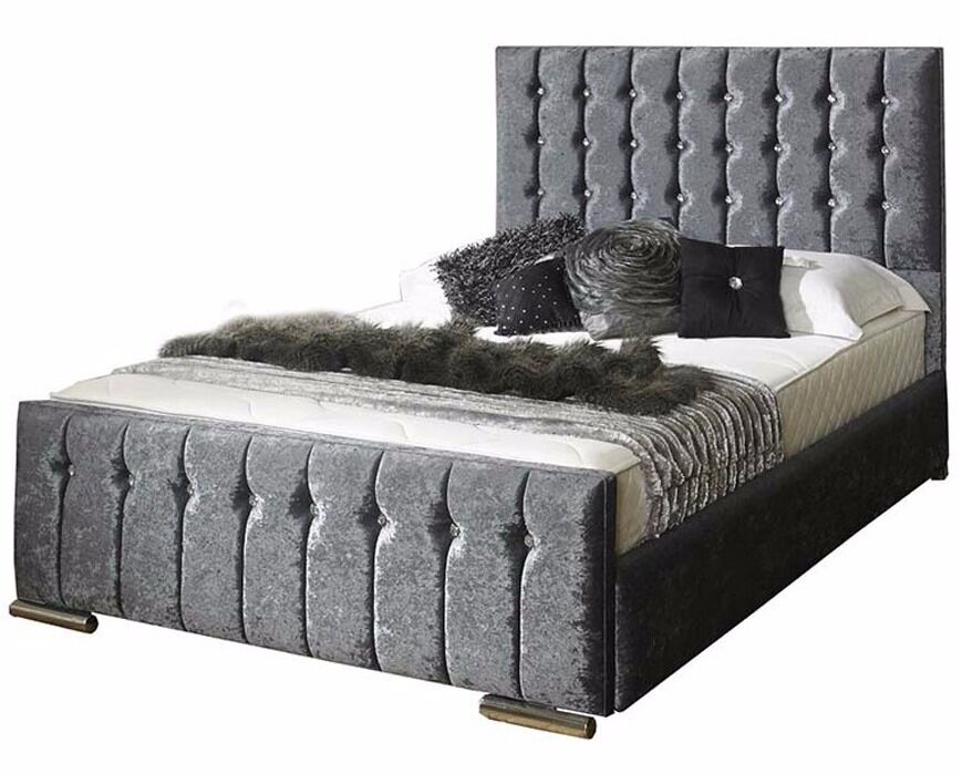 *FREE UK DELIVERY* High End Hilton Crushed Velvet Ottoman Storage Bed -  OVER 70 - FREE UK DELIVERY* High End Hilton Crushed Velvet Ottoman Storage