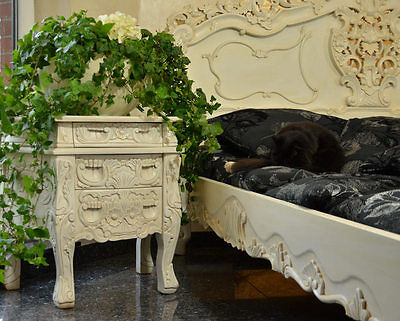 Nachtkommode Nachtkonsole Kommode Mahagoni 3-Schubladen Massivholz Nachttisch