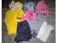 Older Girls Clothing Bundle. Age 13-14. Zipper, Tops, Onesie, Shorts etc