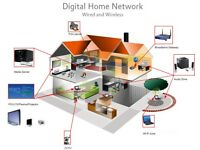 Computer network set-up, Data installation, networks, audio video, smart home