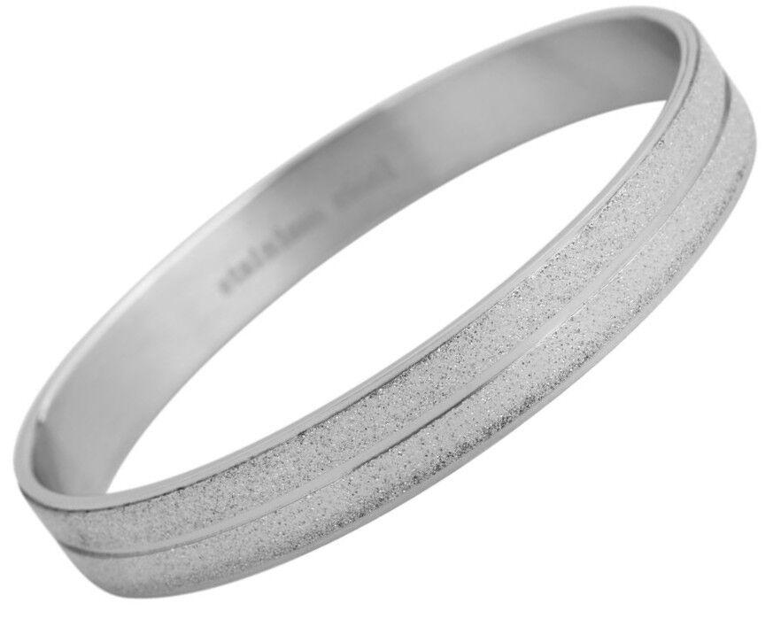Damen Armreifen Armreif Silbern Edelstahl glitzer Crystal 5030242-001 von AKZENT
