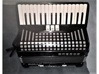 Hohner Freebass Accordion 2 reed three voice LH and RH couplers.