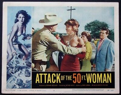 ATTACK OF THE 50 FT. WOMAN ALLISON HAYES SCI-FI 1958 LOBBY CARD #4