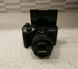 Canon EOS M6 Mirrorless Camera. Lens, Charger, Waterproof Box