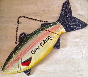 "Collection. Décoration ""bord de mer"" ""Gone Fishing"""