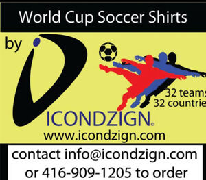 World Cup soccer shirts ..quality brand names.