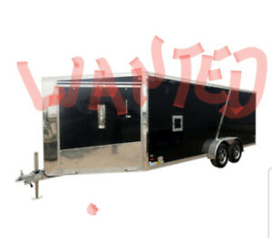 TopDollarPaidUsed Aluminum Drive In/Out SnowmobileTrailer