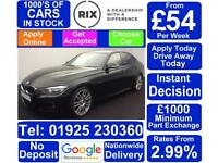 2015 BLACK BMW 320D 2.0 M SPORT DIESEL MANUAL 4DR SALOON CAR FINANCE FR £54 PW
