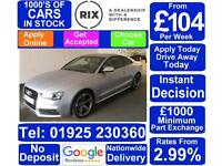 2016 SILVER AUDI S5 3.0 TFSI QUATTRO BLACK EDITION COUPE CAR FINANCE FR £104 PW