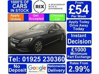 2015 BLUE MERCEDES C220 2.1 BLUETECH SPORT DIESEL SALOON CAR FINANCE FR £54 PW