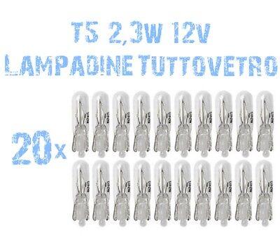 Kit 20 Gloeilampen Glas Socket T5 12V 2,3W Instrumentatie Auto Motorfiets 2A1 2A