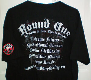 Round One Kickboxing Size XL Double Sided Club T Shirt London Ontario image 2