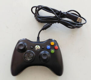 GENUINE OEM Microsoft Xbox 360 Wired Controller Black