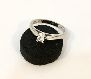 14k yellow gold diamond promise or engagement ring /MSRP $950*