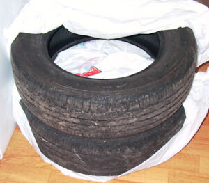 Set Pair of 2 Used 15 inch Tires All Season M+S 195/65R15 89H