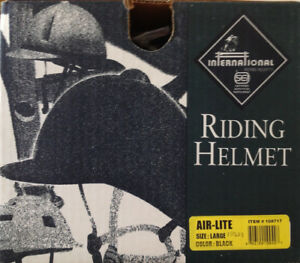 RIDING HELMET, NEW, UNUSED, BLACK,$30