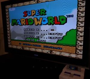 Vintage SNES - Super Mario World Game