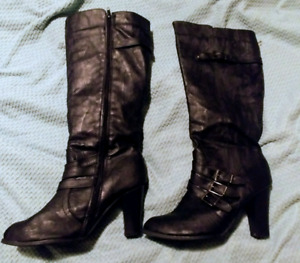 Leather Boots like new $25 ono