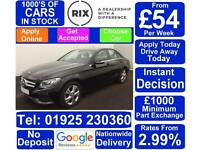 2015 BLACK MERCEDES C220 2.1 BLUETEC SE EXECUTIVE SALOON CAR FINANCE FR £54 PW