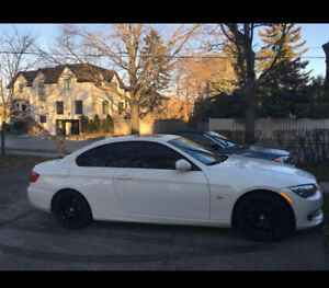 2011 BMW 328i Coupe with Xdrive Arctic White with Red Interior
