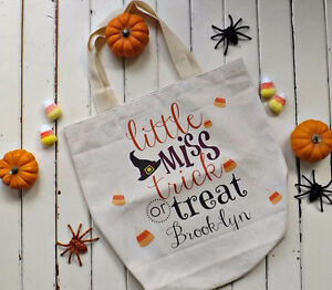 Personalized Trick or Treat tote