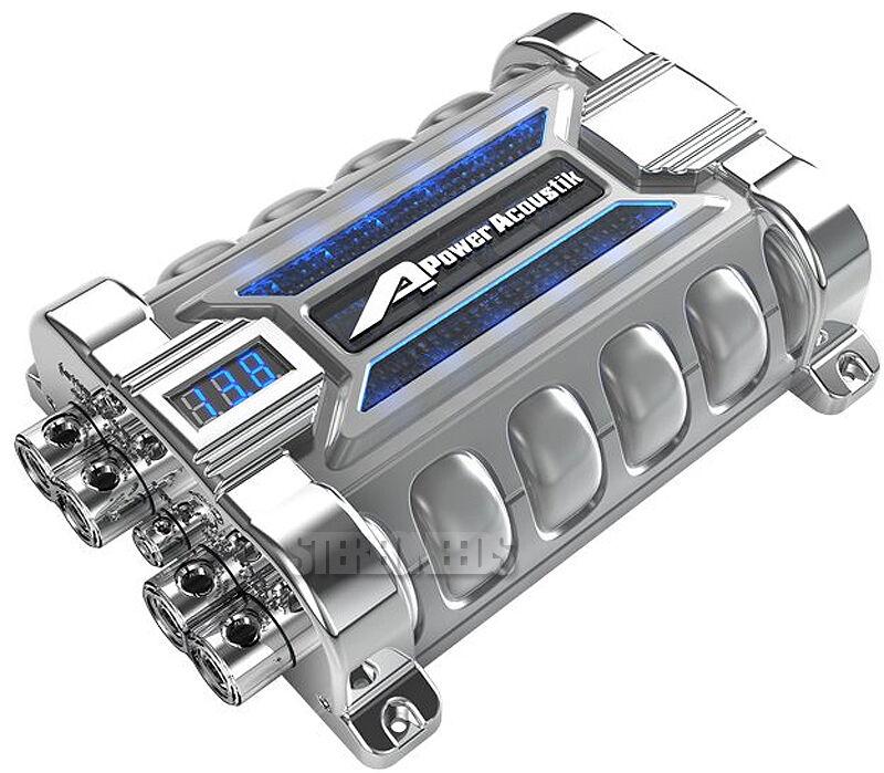 POWER ACOUSTIK PCX-30F 30 FARAD DIGITAL BLUE VOLTAGE DISPLAY CAR CAP CAPACITOR