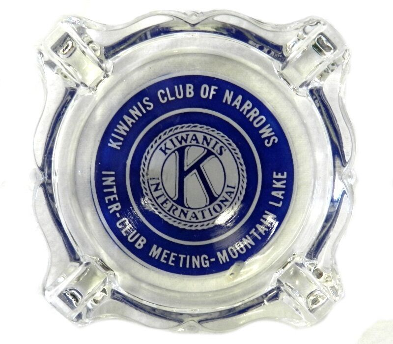 Ashtray Kiwanis Club of Narrows Mountain Lake International Meeting Vintage