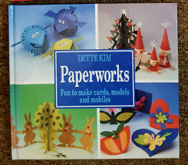 Christmas and other ideas ..Craft book.. 'Paperworks' hardback book