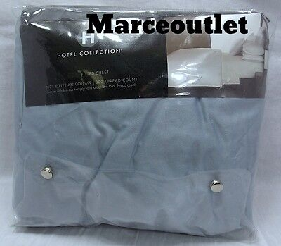 Hotel Collection 800 Thread Count Egyptian Cotton QUEEN Fitted Sheet Mist Blue
