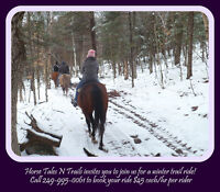 Horse Tales N Trails now offering Winter Trail rides