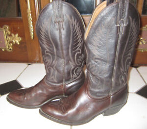 Vintage All Leather Boulet Cowboy Western Boots