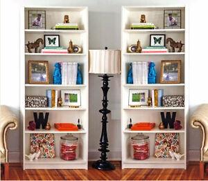 "Like NEW! 6-Tier Shelving White Bookshelf,H 80"" (TEXT/CALL Only)"