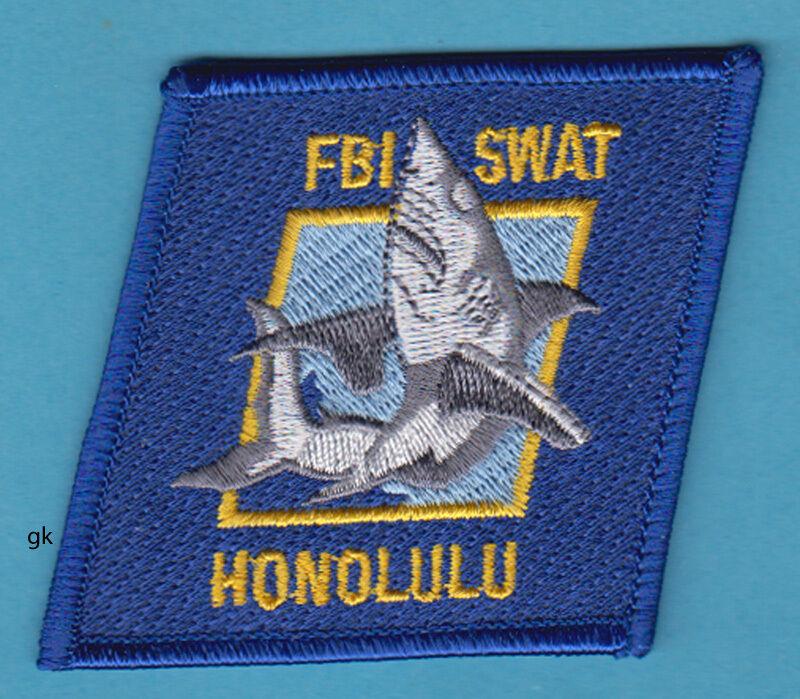 HONOLULU HAWAII POLICE FBI SWAT SHOULDER PATCH (Shark).